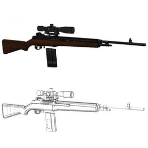 1:1 Scale M14 Rifle Gun Model Papercraft Toy DIY 3D Paper Card Military Model Handmade Crafts Toys for Boy Gift