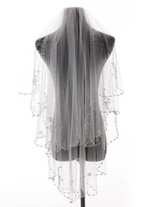Bridal Veils Bead Edge Wedding Accessories Tulle Veil With Comb