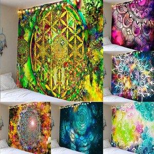 الهند ماندالا نسيج الجدار شنقا بوهو ديكور جدار القماش قماش مخدر الهبي الليل القمر نسيج ماندالا جدار السجاد