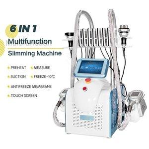 2021 6in1 Cryolipolyse FAT Congélation Machine Cryothérapie Cavitation du corps Lipo Dispositif laser avec poignée RF