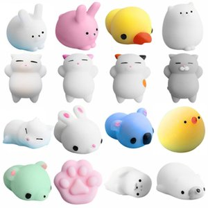 Fidget Toys Popit 16pc Lindo Mochi Mochi Squishy Cat Squeeze Healing Fun Kids Kawaii Toy Toy Stress Reliever Figet Toys Stress
