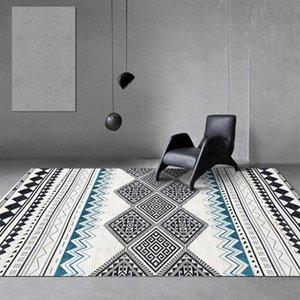 Carpets Geometric Bohemian Carpet Living Room Bedroom Modern 3D Children's Game Non-slip Home Decor Floor Mat Bathroom