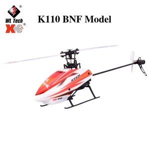 WLTOYS XK K110 / K1 6CH 3D 6G Sistemi Uzaktan Kumanda Fırçasız RC Helikopter BNF Verici Olmadan K100 / K120 / K123 / K124 210325