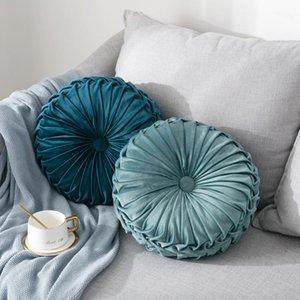 Moderno Styke Velvet Pieghettato Pieghettato Thround Throw Pillow Couch Cuscino Piano Decorativo per la casa del divano letto