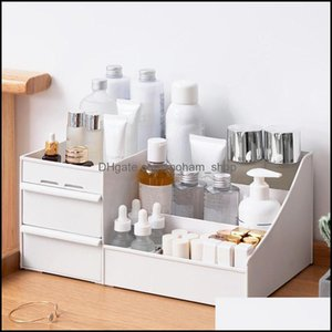 Storage Housekee Organization Home Gardenstorage Boxes & Bins Der Type Large Capacity Cosmetic Desktop Jewelry Box Organizer Nail Polish Mak