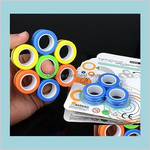 The Magnetic Ring Relief Toy Anti-Stress Fingears Stress Reliver Finger Ring Fidget Spinner Toys Magnetic Rings For Adults Kids Sy14D Mrnjg