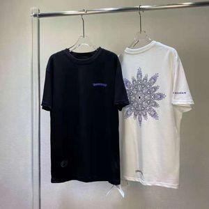 T-shirt à la mode d'été Loge Furshoe marée en coton Sanskrit Cross Crosin à manches courtes à manches à manches à manches courtes pour hommes blancs blancs