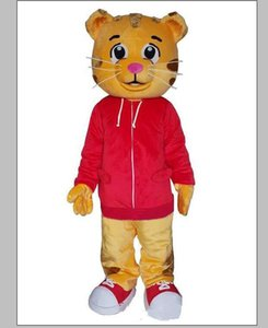 Daniel Tiger Mascot Costume Halloween Parti de Carnaval Noël Fantaisie Costumes Adultes Tenue