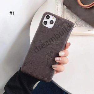 Cas de téléphone de mode pour iPhone 11 12 Pro Max Mini 7 8 Plus x Couverture X XR XSMAX Coquillage PU Samsung S10 S20P Note 10 20 Ultra
