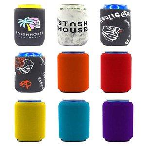 Immersioni creativi Coppa di colore solido Set di tazza di coca coke tazza di raffreddamento professionale Birra può coprire le bevande Bottiglia Bottiglia per la stella del dispositivo di raffreddamento del refrigeratore colorato OOD4648