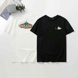 새로운 PP Mens 디자이너 T 셔츠 럭셔리 파리 패션 Tshirts 여름 펑크 라인 석 두개골 티셔츠 남성 최고 품질 100 % 코 튼 힙합