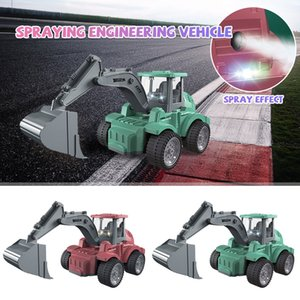 New Kids Simulation Car Model Toy Colorful Lighting Electric Universal Excavator Spray Engineering Vehicle Diecasts Toy Gift