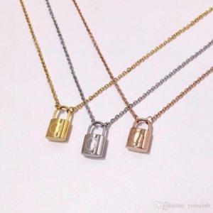 2021 Designer collana di coppia di marca moda moda lussuries lock collane collana in acciaio in titanio 18K collana donna per regalo di compleanno