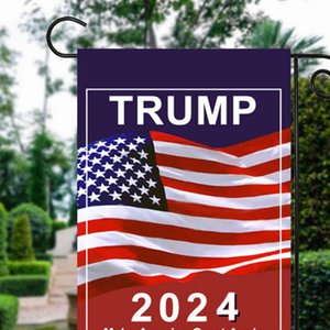 Trump 2024 Flag MAGA KAG Republican USA Flags Anti Biden Never America President Donald Funny Garden Campaign Banner EEB5747