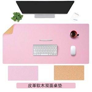 Double-sided Cork Leather Mat Mouse Pad Multifunctional Pad Antifouling Waterproof Gaming Desk Mat Large MousePad Gaming Writing Mouse Mat