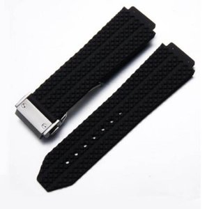 Rubber Belt Watch Bands Glide Clasp Automatic Movement 20MM Size Men Watches Mens Wristwatches