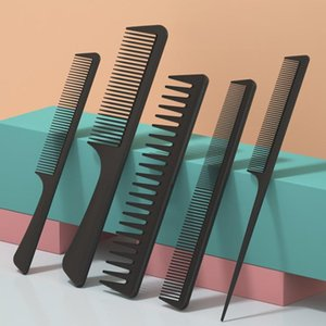 Hair Brushes Carbon Fiber Comb Set Professional Tail Salon Cutting Combs Dye Separate Parting For Styling
