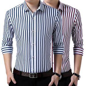 Men's Dress Shirts French Cuff Mens Long Sleeve Shirt High Quality Regular Fit Male Social Wedding Party Cufflinks Plus Size 5XL