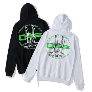 Sudaderas con capucha para hombres de estilo Whitenew Conejo cabeza verde letra hombres y suéter para mujeres 97lr
