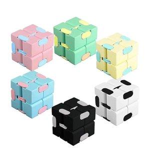 Infinito cubo descompresión fidget puzzle juguete favor macarrón infinito rubik dedo hilanders adulto niño niño adhd alivio de alivio regalo