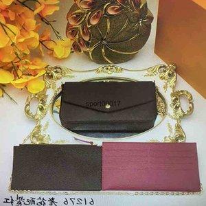 Wholesale N63106 POCHETTE FELICIE Shoulder Bags Women Handbag Mini Clutch Wallets Card Holder Purse 3pcs Leather Crossbody Bag 63106