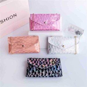 Tie Dye Printed Children's Mobile Phone Bag Chain Wallet Summer Girls One Shoulder Messenger Bags Mini Kids Patchwork Cartoon Handbag Coin Purse G75SNEN