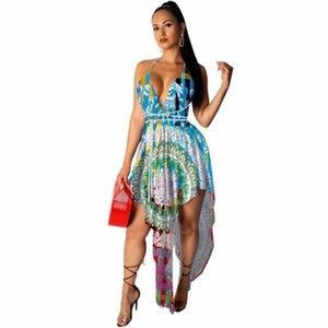 여성 Boho Maxi 드레스 소녀 여름 스파게티 스트랩 달콤한 도트 긴 숙녀 비치 Sundress Vestido de Mujer 수영복