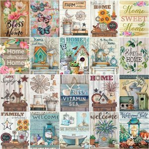 Paintings CHENISTORY Coloring By Number Animal Flower Kits Home Decoration Pictures Painting Wall Drawing On Canvas Handpainted