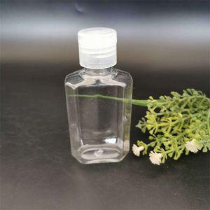 60ml Octagonal Separate Bottling Empty Hand Sanitizer PET Flip Cap Extrusion Bottle Travel Portable Clear Squeezed Bottles New 0 32kd G2 9C29