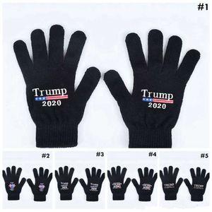 Luvas Trump 2020 Mantenha a América Grande carta impressa cinco luvas dedo ao ar livre esportes de inverno mitenes mma2963