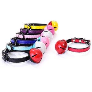 Pet Bell Collars Two-color Big Bells Cat Collar Teddy Pets Strap 7 colors