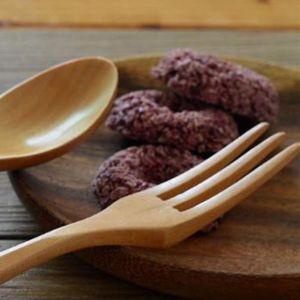 Натуральная деревянная ложка и вилкой набор кухонные столовые приборы салат из фруктов посуда ручной работы кемпинг открытый для приготовления пищи