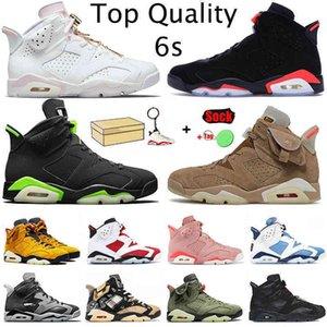 Shoes Jumpman 6s 6 Gold Hoops Mens Basketball Top Fashion Carmine Tinker British Khaki Tech Chrome White Off Black Infrared