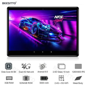 Global Google CE Certificated 10 Inch Tablet PC Android 9.0 OS Octa Core 3GB RAM 64GB ROM 5G Wifi GPS HD IPS 1280*8001