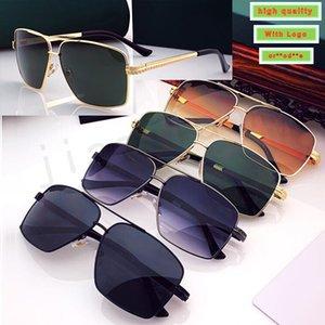 Tasarımcı Güneş Gözlüğü En Kaliteli Güneş Glasse Erkekler Marka Renk Siyah Kare Gözlük Erkek Fütüristik Retro Küçük Gözlük Adam için
