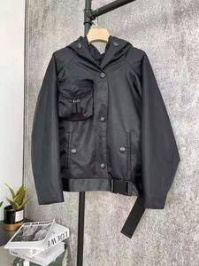 Kadın Ceket Kapşonlu Ceket Parkas Bahar Sonbahar Stil Kemer Ile Kemer Ince Korse Lady Kıyafet Ceketler Cebi Yabanca Sınıf Classcia Rüzgarlık Mont S-L