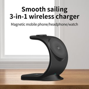 Wireless Chargers 3 in 1 Magnetic Wireless Charger for iPhone 12 Pro Max 12 Mini Chargers for Apple Watch 6 SE Airpods Pro