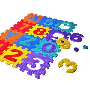 P15C 36Pcs Set Baby Puzzle EVA Foam Play Mat Number Interlocking Exercise Tiles Pad Kids Shatter Resistant Crawling Rug Toy H0831