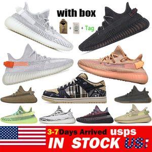 Kanye dunk الرجال النساء الاحذية Yecheil yeezreel أنطفلية ثابت حذاء رياضة Zebra مصمم 36-48 في مستودع الولايات المتحدة الأمريكية