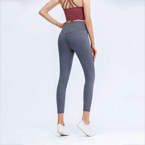 Leggings de mujer Yoga Deportes Fitness Running Classic Fitness Pantalones de nueve puntos Estirar apretado y secado rápido XS-XL