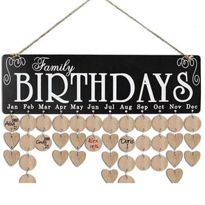 Calendar Diy Wooden Listing Party Home Decoration