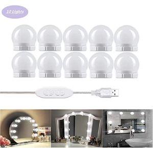 5V Led Makeup Vanity Lights Bulb Hollywood 10leds Table Mirror Light USB Wall Mirrors Lamp For Dressing