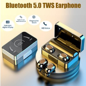 Bluetooth 5.0 TWS earphones T5 plus charger power HIFI T2 135 Noise Reduction AirDots headphone with Mic Fingerprint AI Control Type C chagers Wireless Headset