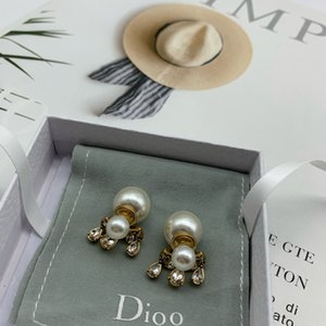 Tear Earring for lady Women studs Party Wedding Lovers gift engagement Jewelry Bride With BOX