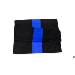 3x5Ft 90x150cm Black Blue Lives Matter Flag Thin Line Support police Direct factory wholesale HWD10516