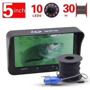 كاميرا الصيد تحت الماء شاشة 5 بوصة HD كاشف السمك للجليد / البحر مكتشف