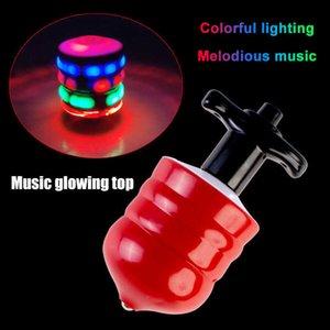 LED-Spielzeug beleuchten Rotary-Desktop-Fußball-Gyro-Farbmusik-Spinning-Top-Glühen-Spielzeug B99 Q0528