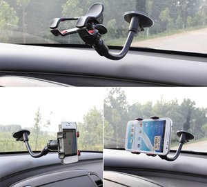 Free DHL 360 Degree Long Arm Universal Car soft tube Mount Bracket Holder for iPhone 6 iphone6 note4 mobile phones