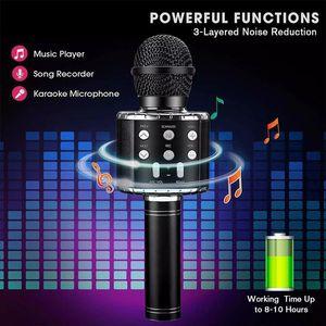 Portable Bluetooth Karaoke Microphone Wireless Professional Speaker Home KTV Handheld Microphones