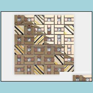 Tiles Flooring Building Supplies Home & Garden2021 Factory Direct Sales Tv Background Wall Tile Laminated Glass Mosaic Wholesale 002 Drop De